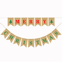 MERRY CHRISTMAS Xmas Bunting Banners