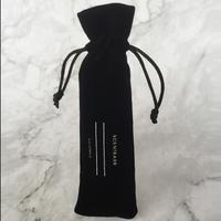 Velvet Drawstring Pen Pouch Black Customized
